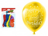 Balon M standard 12szt worek 23cm Happy Birthday mix